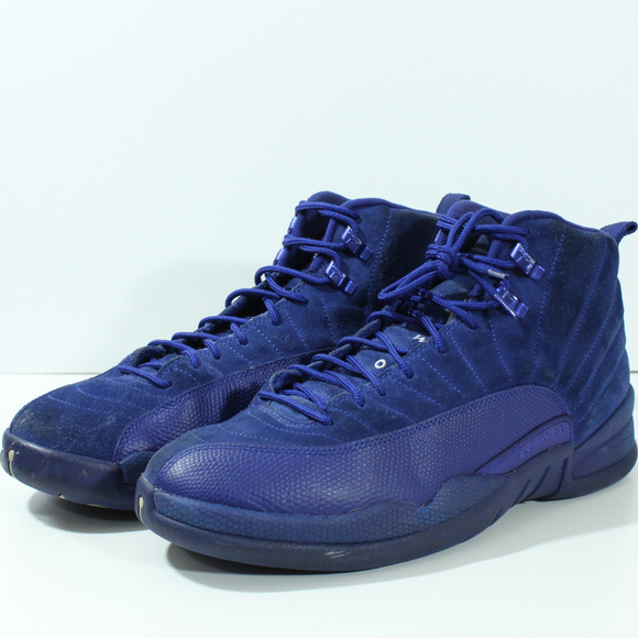 Jordan Other - Nike Air Jordan 12 XII Retro Deep Royal Blue Suede fb918745c